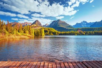 Strbske pleso (Strbske lake) - beautiful mountain lake in High Tatras mountains national park, Slovakia