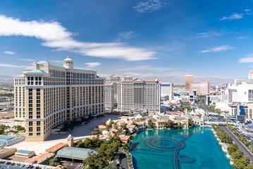Fotobehang Las Vegas Las Vegas strip Aerial view