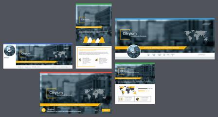 Social media cover header template, social media post.