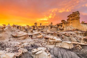 Fototapete - Bisti/De-Na-Zin Wilderness, New Mexico, USA
