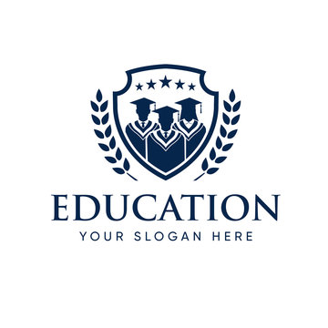 Graduate Student College Logo Template, Education Logo Design
