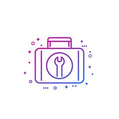 Toolbox line icon on white