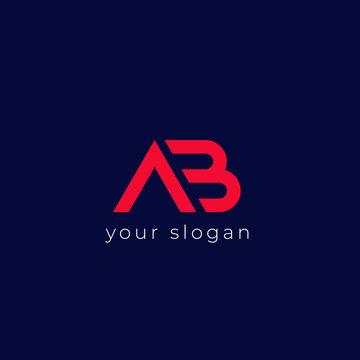 AB logo, monogram vector design