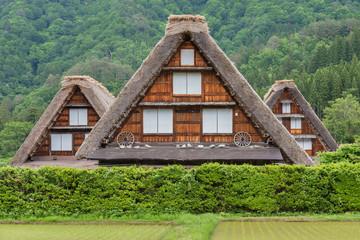 Fototapete - Farm house in Historical village of Shirakawa-go. Shirakawa-go is one of Japan's UNESCO World Heritage Sites located in Gifu Prefecture, Japan.