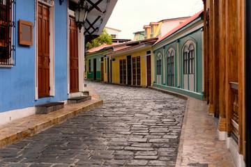 Small alley in the Las Peñas district of Guayaquil, Ecuador