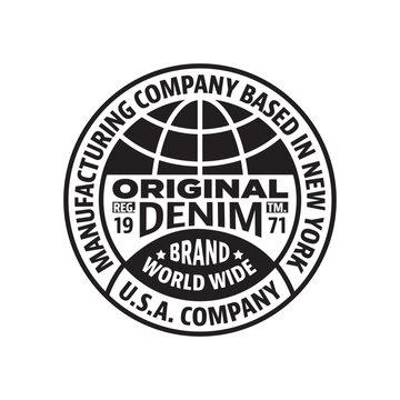 Vintage Style Circular Logo Design template. Vector illustration.