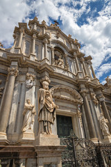 Wall Mural - Catania - The baroque portal of Basilica di Sant'agata.