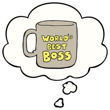 worlds best boss mug and thought bubble
