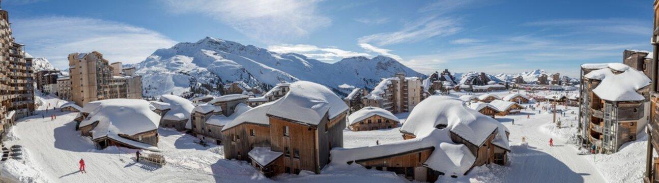Avoriaz village in winter snow