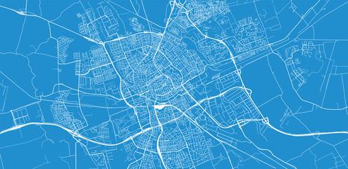 Urban vector city map of Groningen, The Netherlands