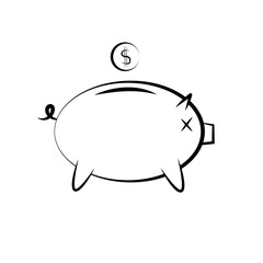 icon of a piggy bank for money saving