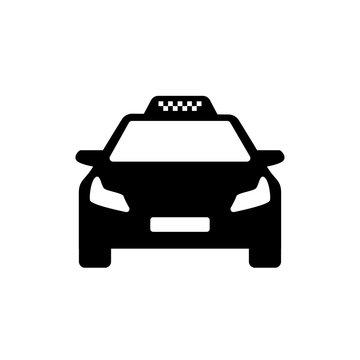 black and white taxi logo modern car