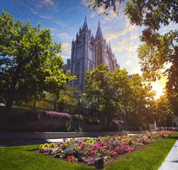 Fotobehang Bedehuis Mormon Temple in Utah