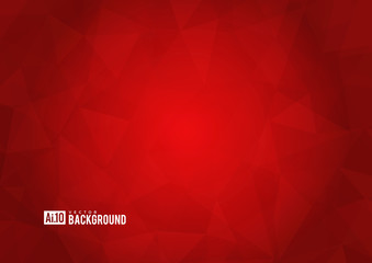 Red texture background with geometric ice pattern.