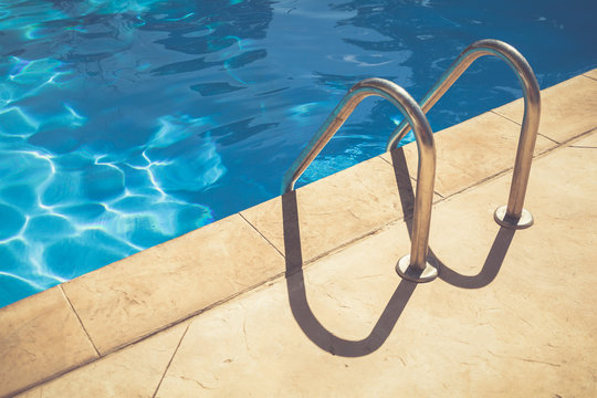 ladder in swimming pool