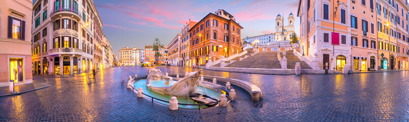 Printed kitchen splashbacks Rome Piazza de spagna(Spanish Steps) in rome, italy