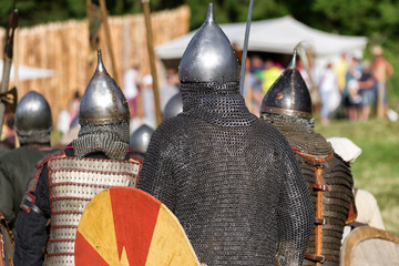 Poster Ridders Medieval warriors in armor