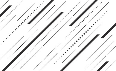 Speed lines and dots lines angle vector background abstract