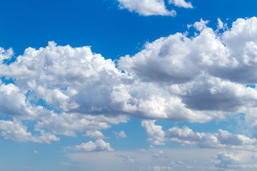 Canvas Prints Picturesque beautiful clouds before rain on the blue sky. Weather, nature concept.