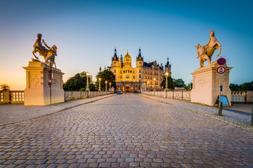 Schwerin palace or Schwerin Castle, northern Germany.