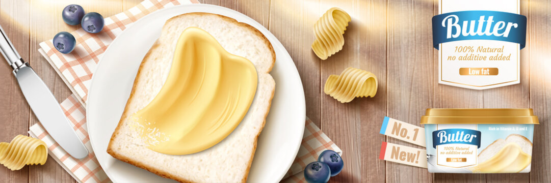 Smooth butter banner ads
