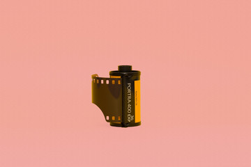 box on a black background
