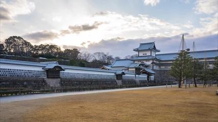 Wall Mural - Kanazawa Castle Park in Kanazawa, Japan time lapse