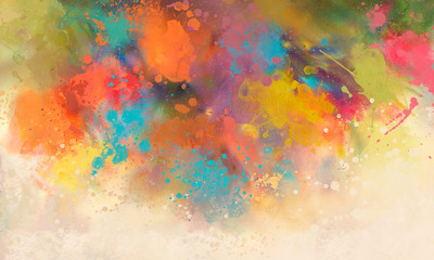 bright Abstract watercolor drawing on a paper image Wall mural