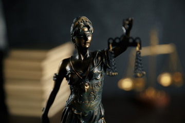 Lady justice, Themis, the statue of justice in heaven. lawyer court lawyer judge courtroom legal lady concept