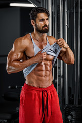Got Abs? Handsome Men In the Gym Showing, Checking Abdominal Muscles
