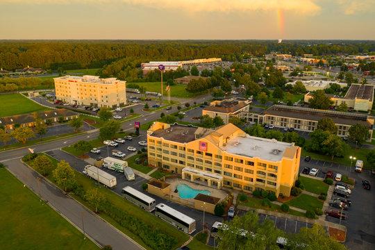 Aerial photo Hotels Lumberton North Carolina USA