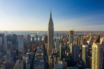 Aerial photo New York Cityscape 2019