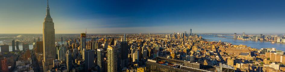 Aerial panorama New York City