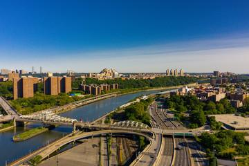 Harlem river between Manhattan and The Bronx