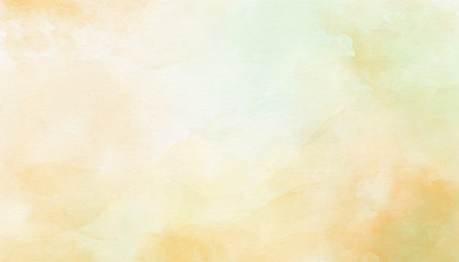 Delicate yellow abstract watercolor background. Great for textures, backgrounds, banner, there is a place for text.
