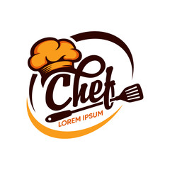 Custom vertical slats for kitchen with your photo Kitchen Chef Logo Design