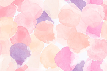 Color, abstract, diverse seamless pattern with colorful watercolor shapes made in vector