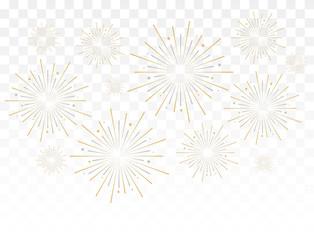 Gold fireworks vector illustration