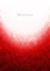 Red texture background with geometric ice pattern