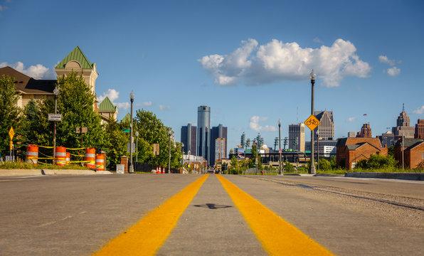 Detroit city street
