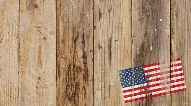 アメリカ国旗,板,グランジ,コピースペース