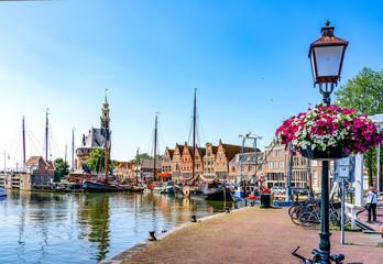 Historischer Hafen Hoorn, Holland Wall mural