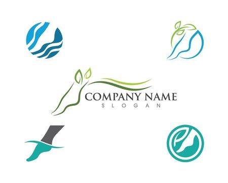 foot Logo Template vector icon