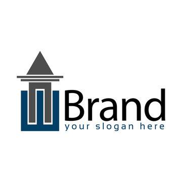Letter WN stock logo, House Logo. WN initial., flat designs.