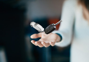 Car keys in hand