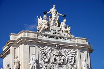 Commerce Square (Portuguese: Praca do Comercio) in Lisbon, Portugal