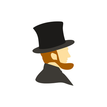 Abraham Lincoln flat vector icon