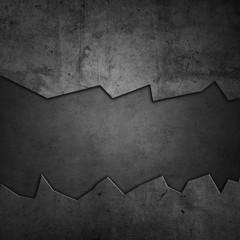 Wall Mural - Gap ripped in grey wall