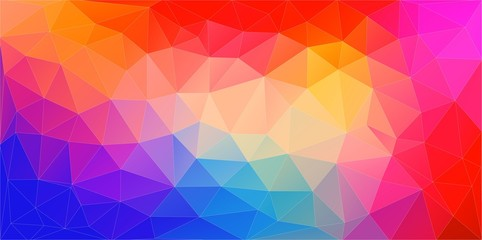 Abstract mosaic background of colourful gradient triangles