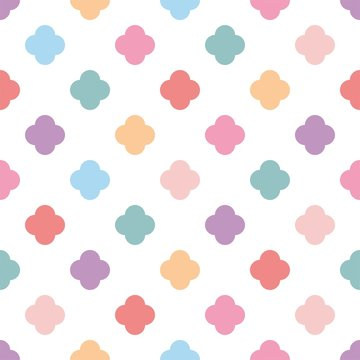 Pastel seamless vector pattern or tile fashion background